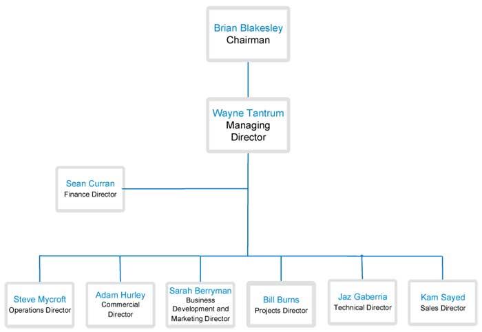 Vertex organisational chart